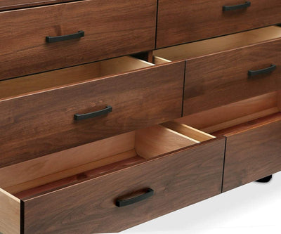 Kelby Double Dresser Walnut Stain - Scandinavian Designs