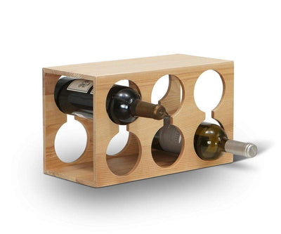 Oyer Wine Rack Walnut Stain - Scandinavian Designs
