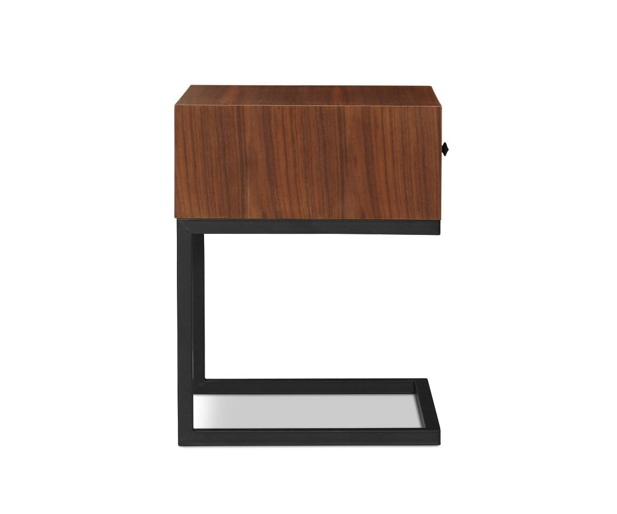 Aland Nightstand Walnut Veneer - Scandinavian Designs