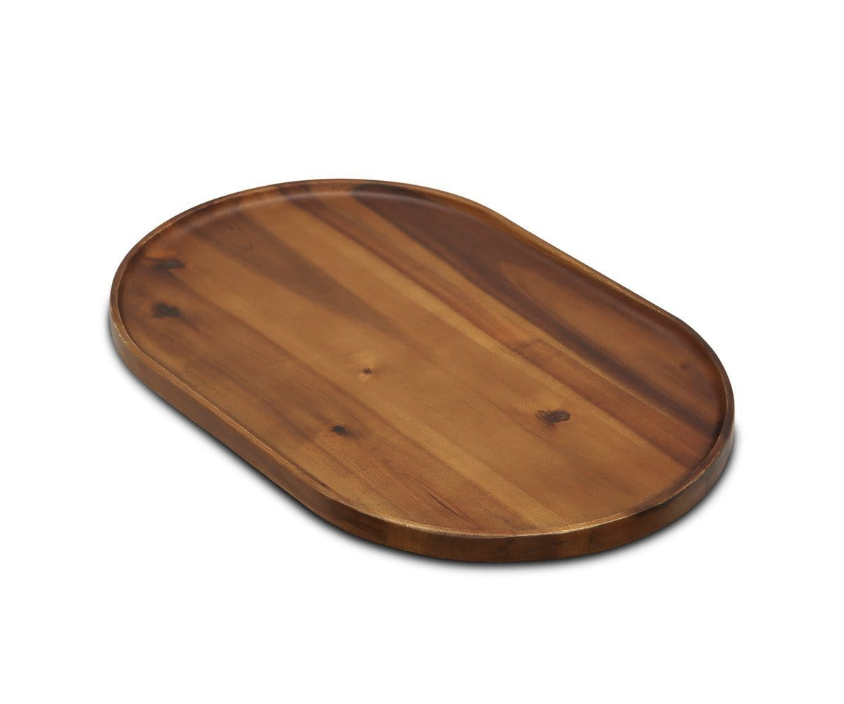 Oyer Oval Serving Tray - Walnut
