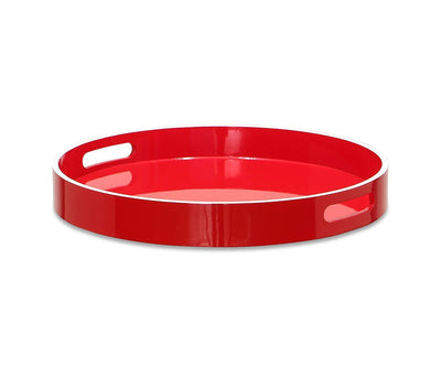Etne Round Serving Tray Red - Scandinavian Designs