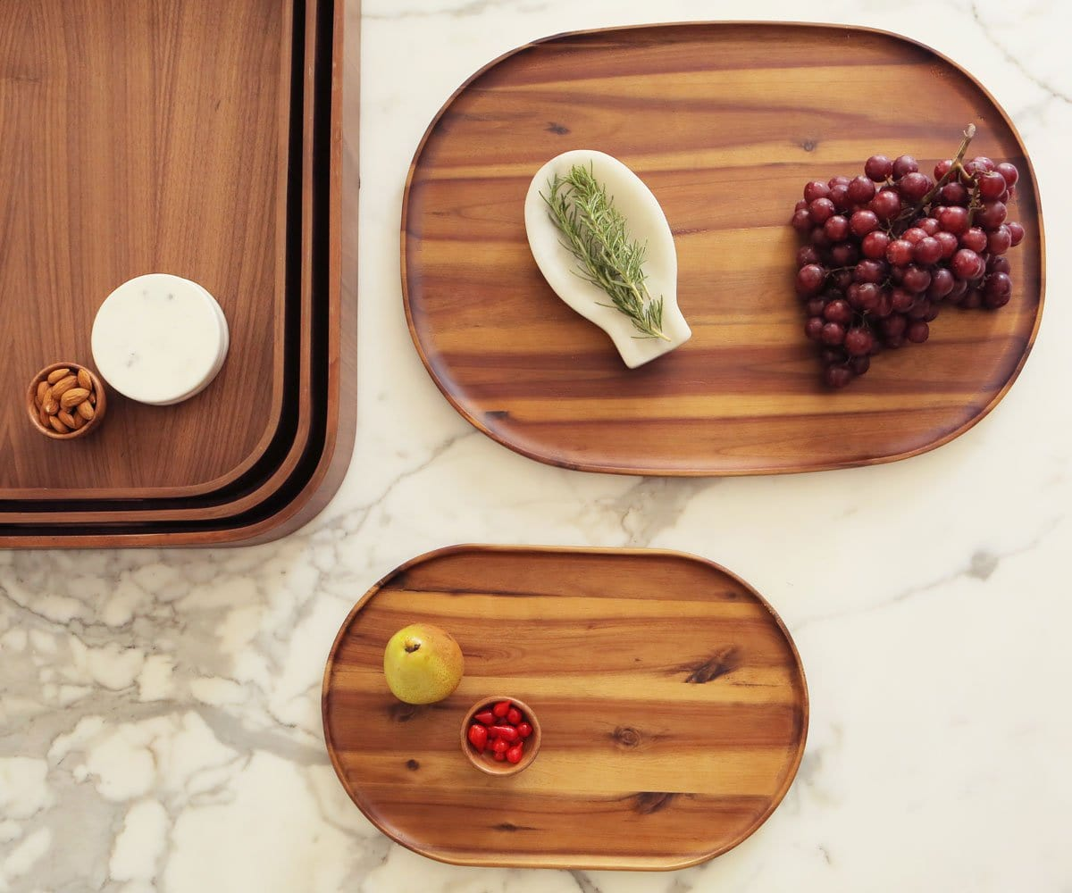 Oyer Oval Serving Tray - Walnut - Scandinavian Designs