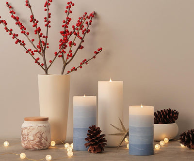 Lys Flameless Candle, Set of 3 - White Lys White - Scandinavian Designs