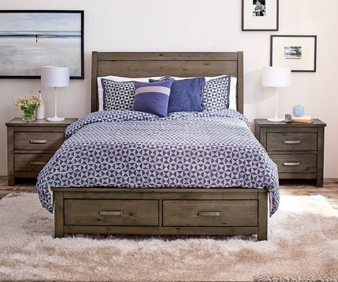 Elegant Carter Storage Bed   Scandinavian Designs