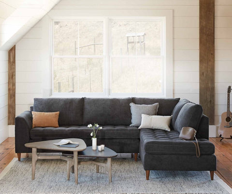 Colm Right Sectional ZEPHYR SLATE - Scandinavian Designs