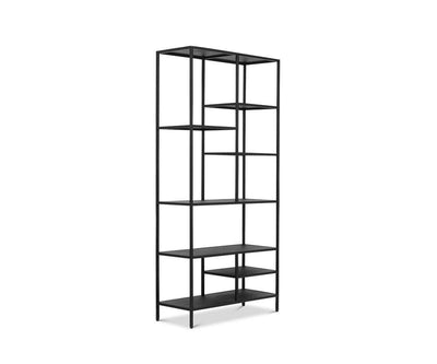 "Heroy 36"" Bookcase Black - Scandinavian Designs"