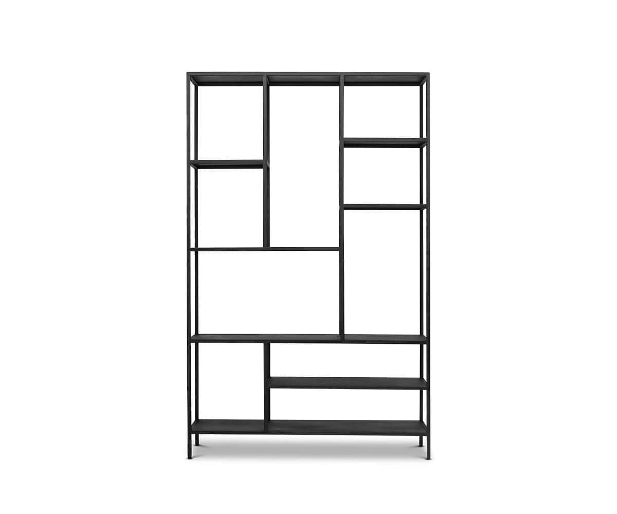 "Heroy 48"" Bookcase Black - Scandinavian Designs"