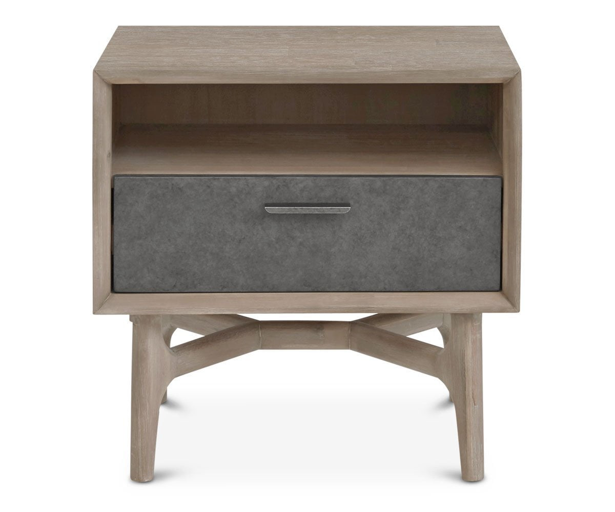 Owen Nightstand Sandblasted Grey - Scandinavian Designs