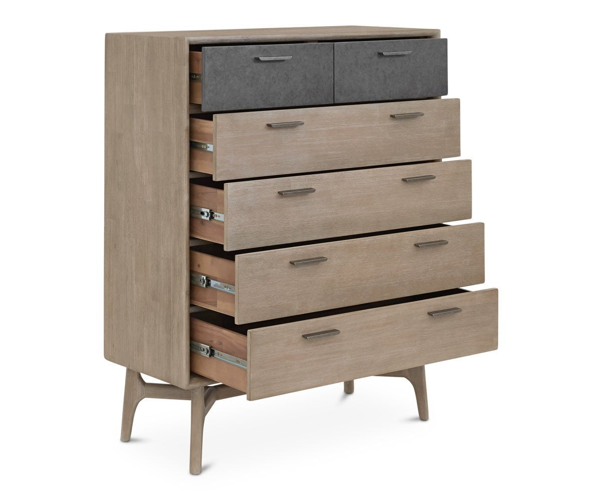 Owen High Chest Sandblasted Grey - Scandinavian Designs