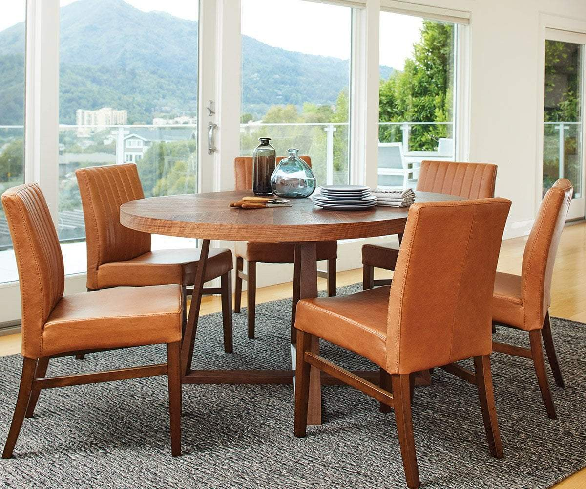 Barrima Dining Chair - Saddle/Walnut