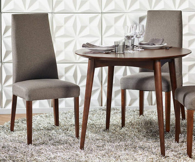 Juneau Round Table Walnut - Scandinavian Designs