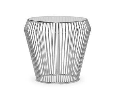 Teegan End Table Chrome - Scandinavian Designs