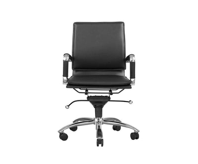Brock Low Back Office Chair Black - Scandinavian Designs