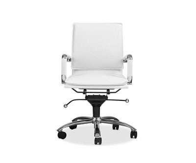 Brock Low Back Office Chair White - Scandinavian Designs