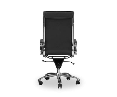 Brock High Back Office Chair Black - Scandinavian Designs