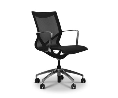 Innri Low Back Office Chair Black - Scandinavian Designs