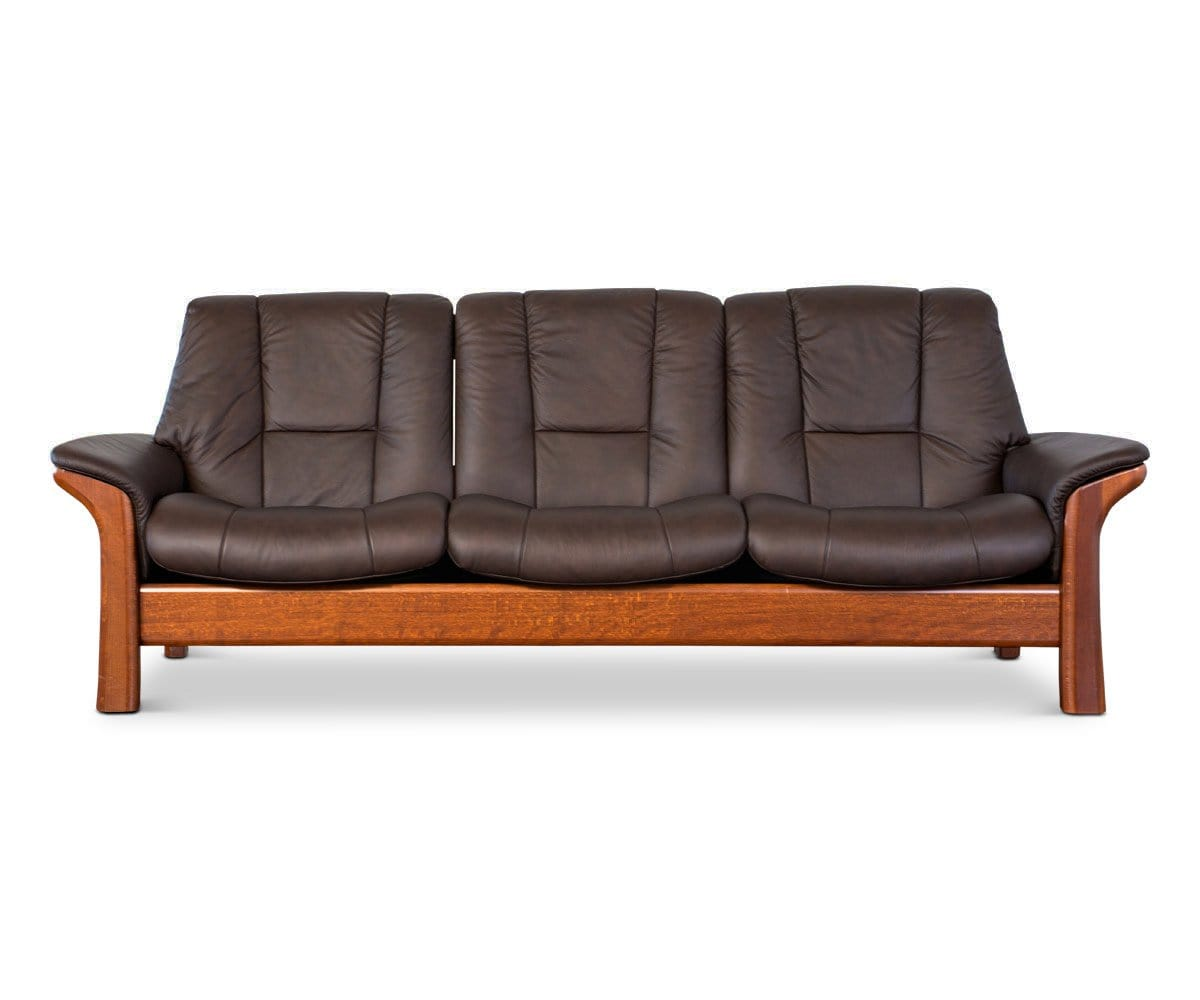 Stressless® Buckingham Low Back Sofa Paloma Chocolate - Scandinavian Designs