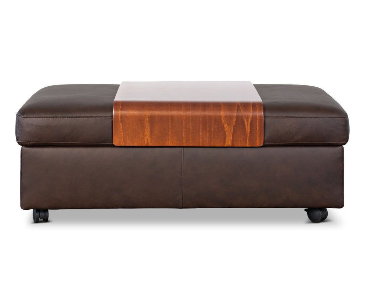 Stressless® Double Ottoman With Table Paloma Chocolate - Scandinavian Designs