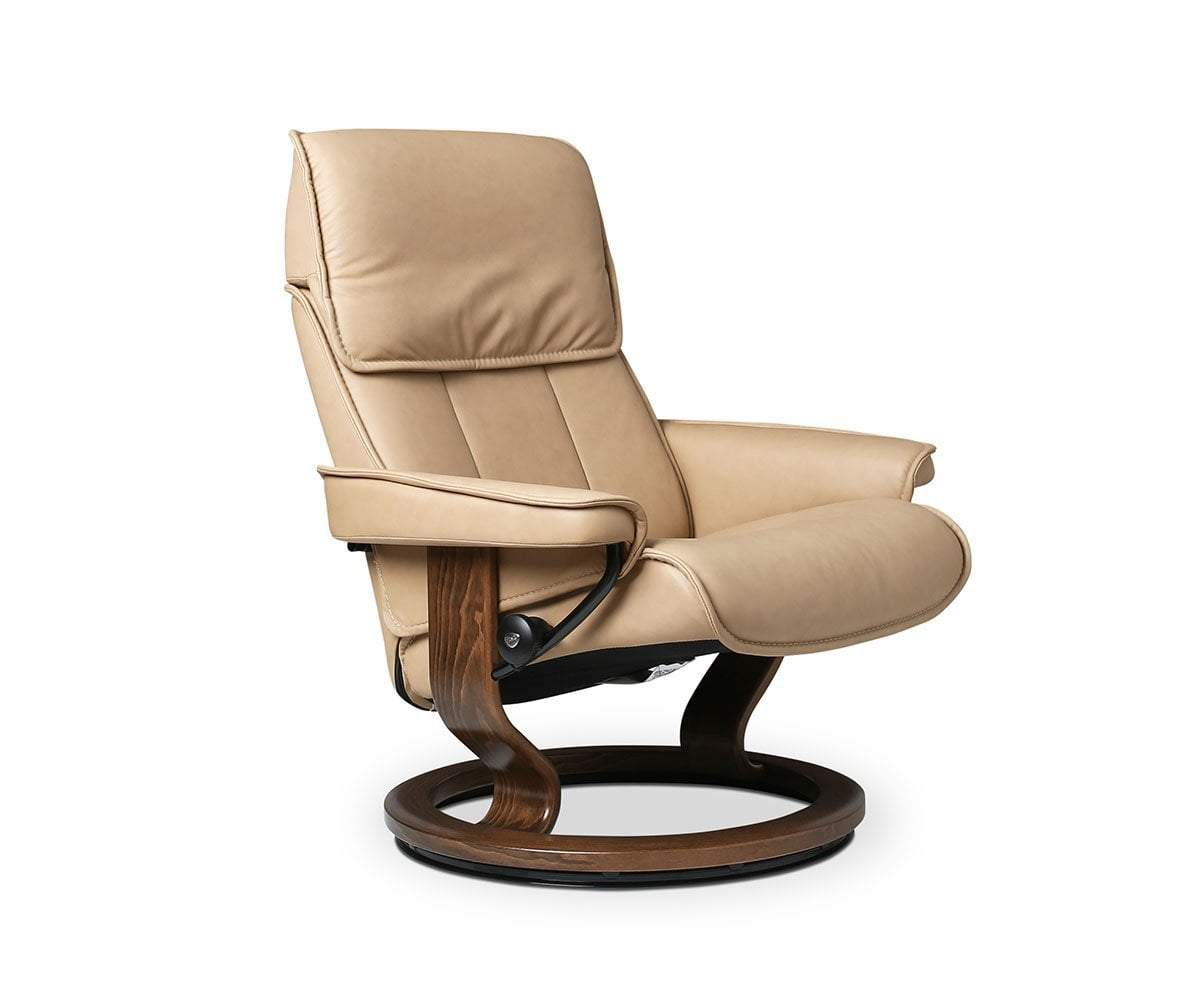 Stressless® Admiral Medium Recliner & Ottoman - Scandinavian Designs