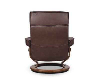 Stressless® Admiral Recliner & Ottoman - Chocolate Medium / Paloma Chocolate - Scandinavian Designs
