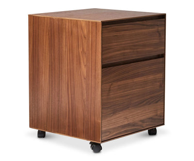 Tanken Mobile File Pedestal Walnut - Scandinavian Designs