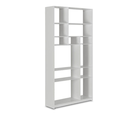 White contemporary bookshelf