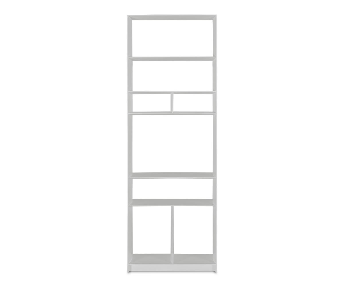 Haldi Narrow Bookcase WHITE - Scandinavian Designs