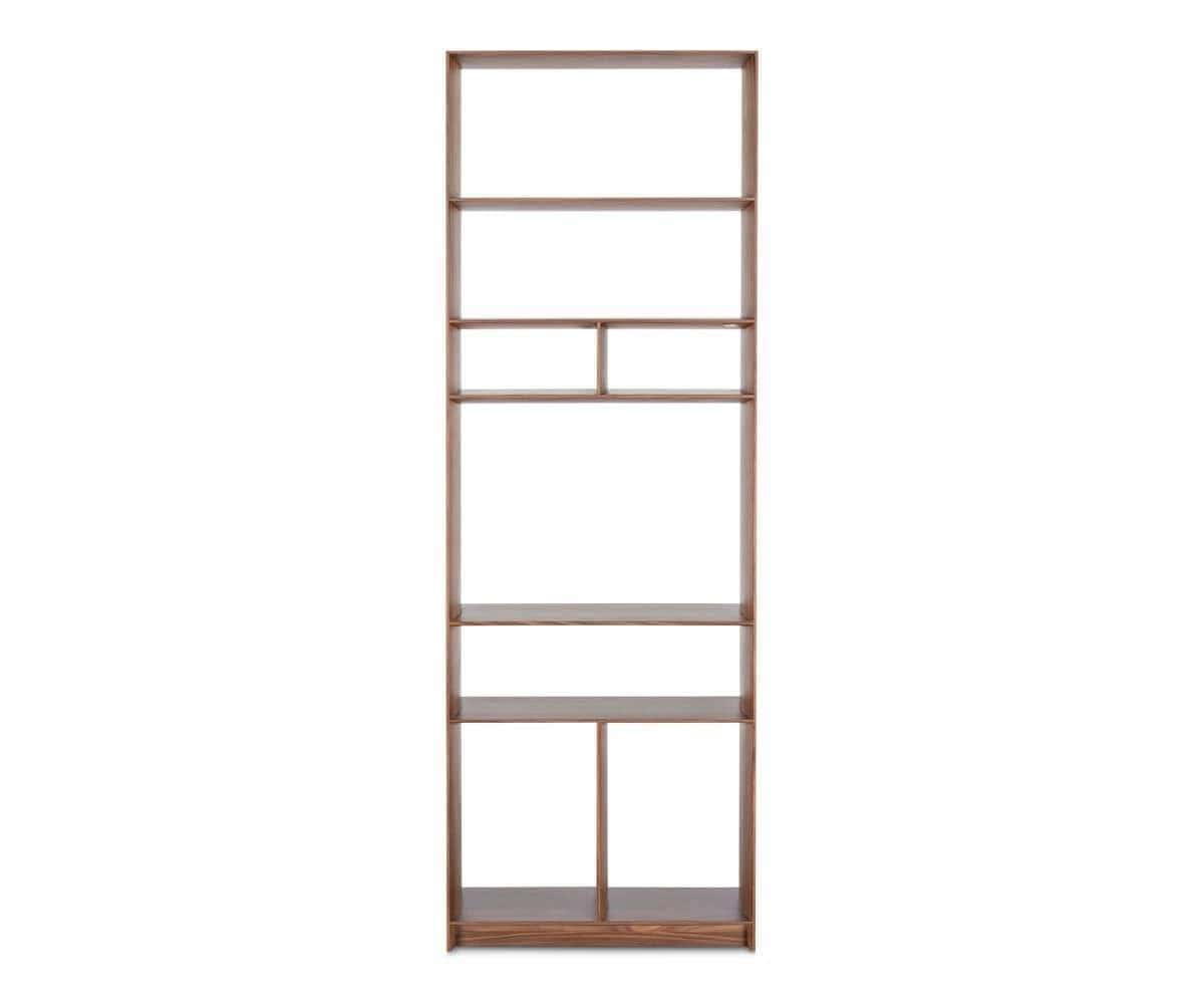 Haldi Narrow Bookcase WALNUT - Scandinavian Designs