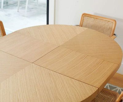 Oliver Round Extension Dining Table Natural Oak - Scandinavian Designs