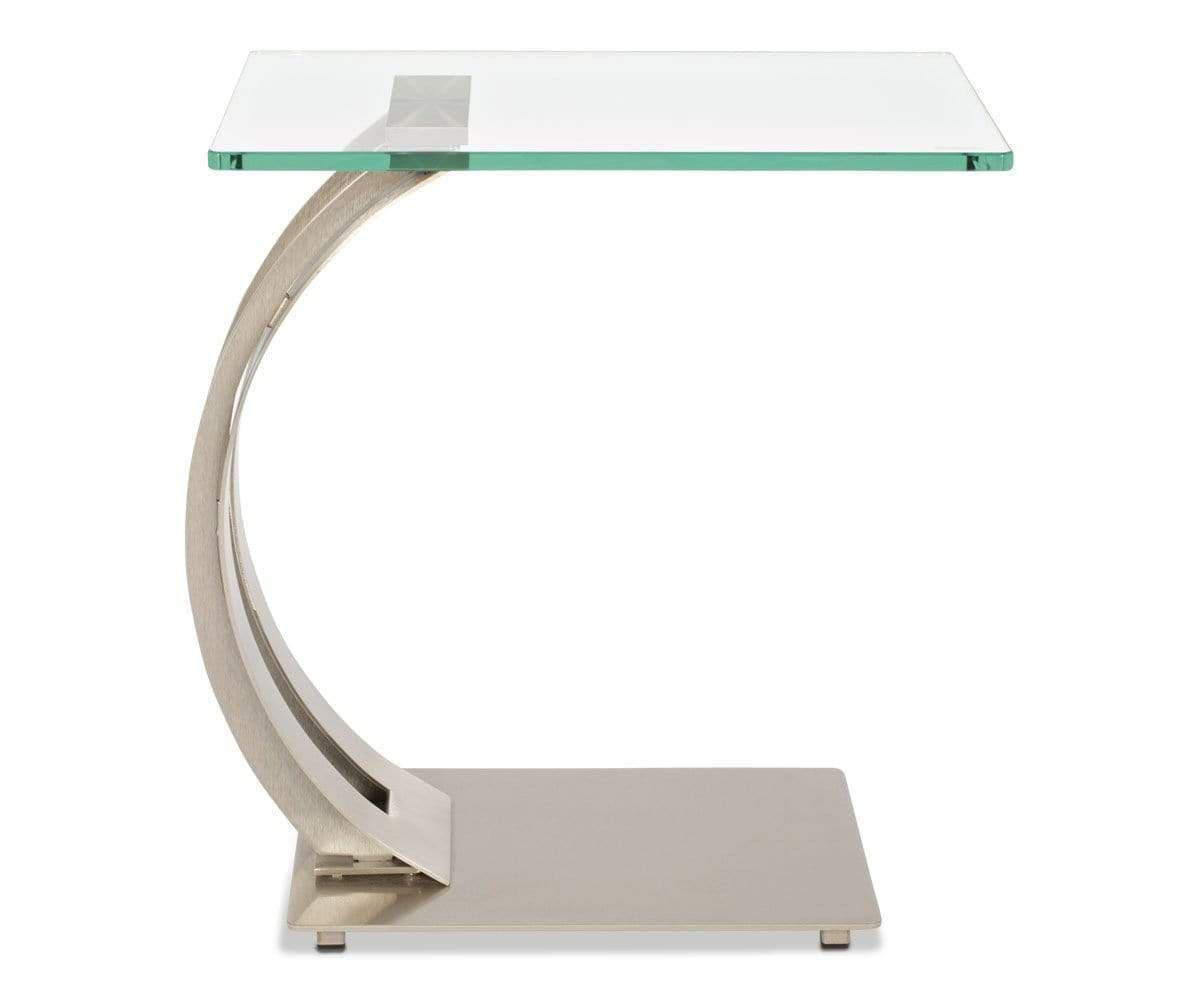Contemporary classic Scandinavian style glass table