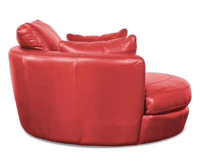 Copel Swivel Lounge Chair - Red Red Delray 1183s - Scandinavian Designs