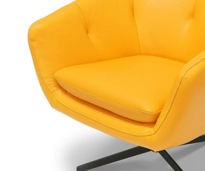 Rory Swivel Chair Yellow Burbank - Scandinavian Designs
