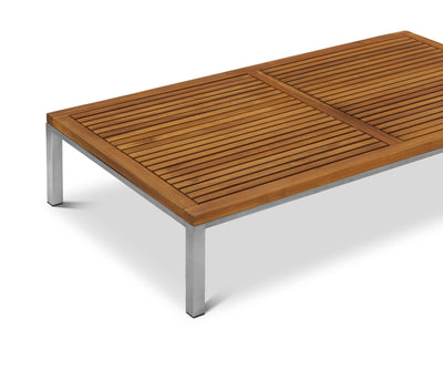 Farino Coffee Table Acacia/Brushed Stainless Steel - Scandinavian Designs