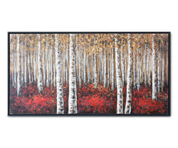Solid Birch Trees Oil Painting - Scandinavian Designs