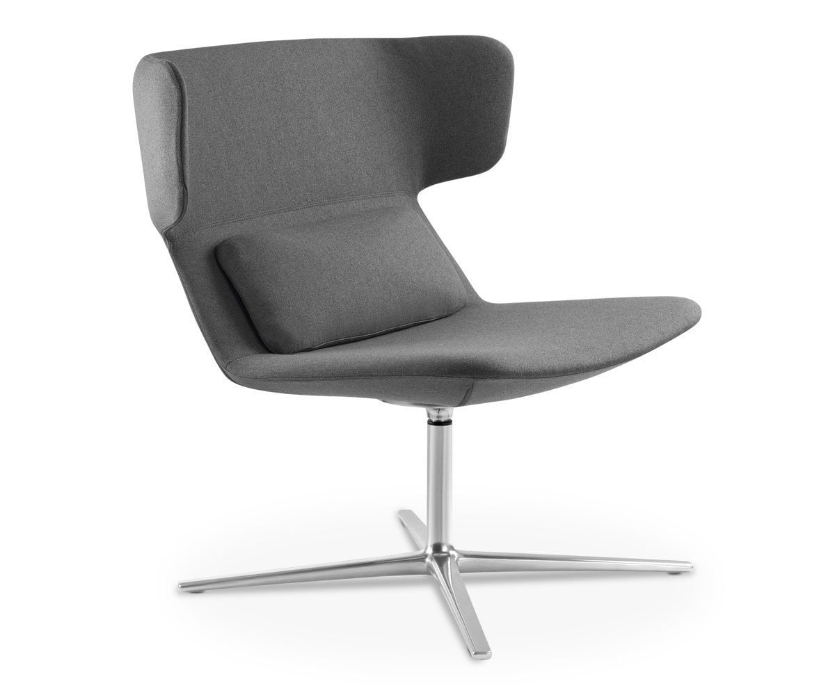 Zander Low Back Chair Grey ACT30 - Scandinavian Designs