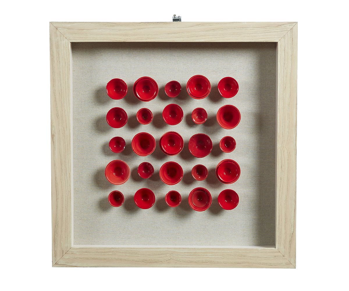 Ketil Wall Art Red/Multi - Scandinavian Designs