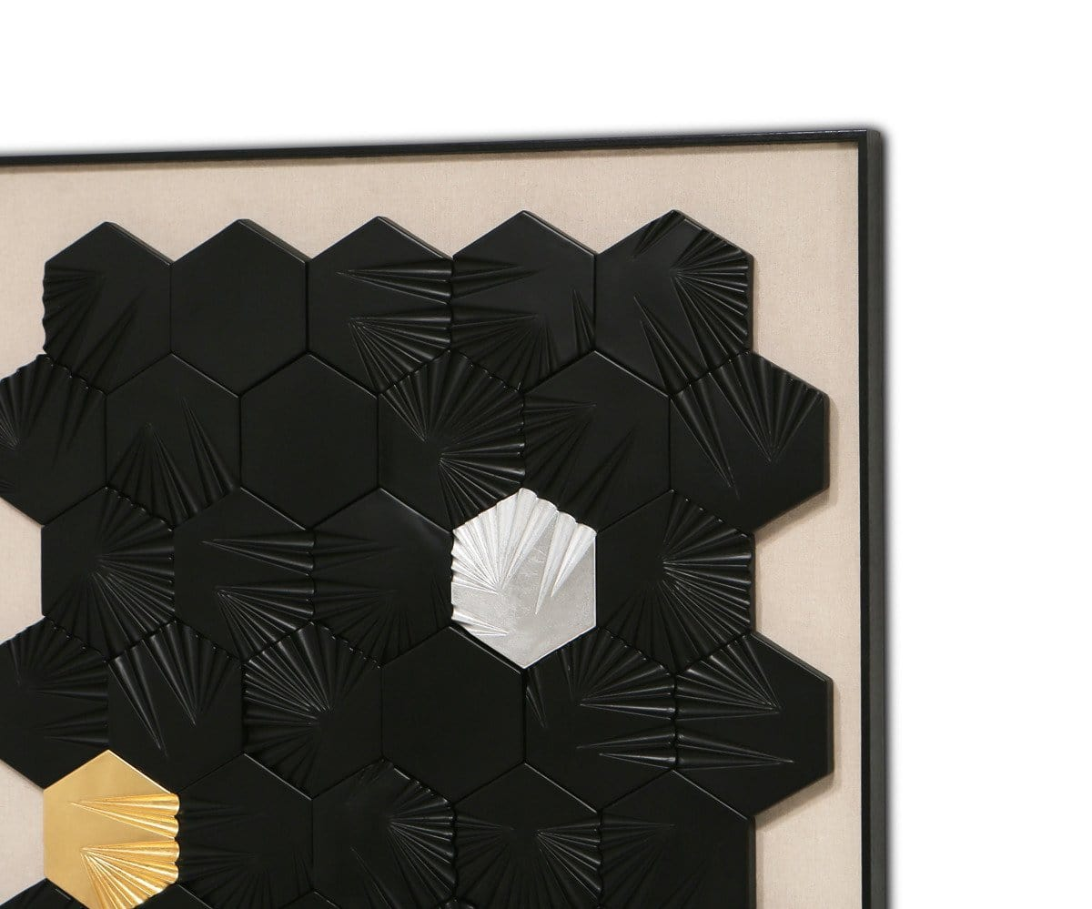 Brilliant Dimension Art Black/Multi - Scandinavian Designs