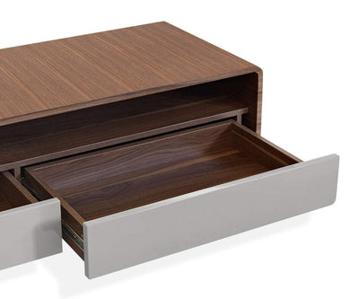 "Baptisia 59"" Media Stand Walnut - Scandinavian Designs"