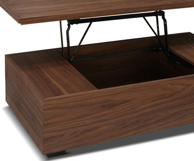 Keelan Lift Top Storage Coffee Table Walnut Veneer - Scandinavian Designs