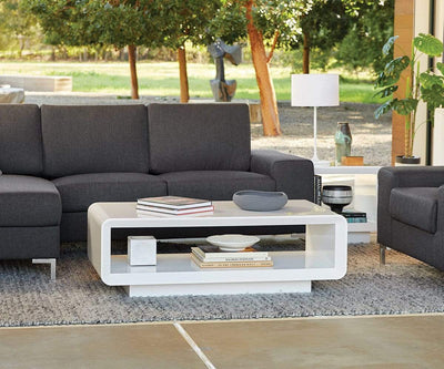 Kopp Coffee Table WHITE - Scandinavian Designs