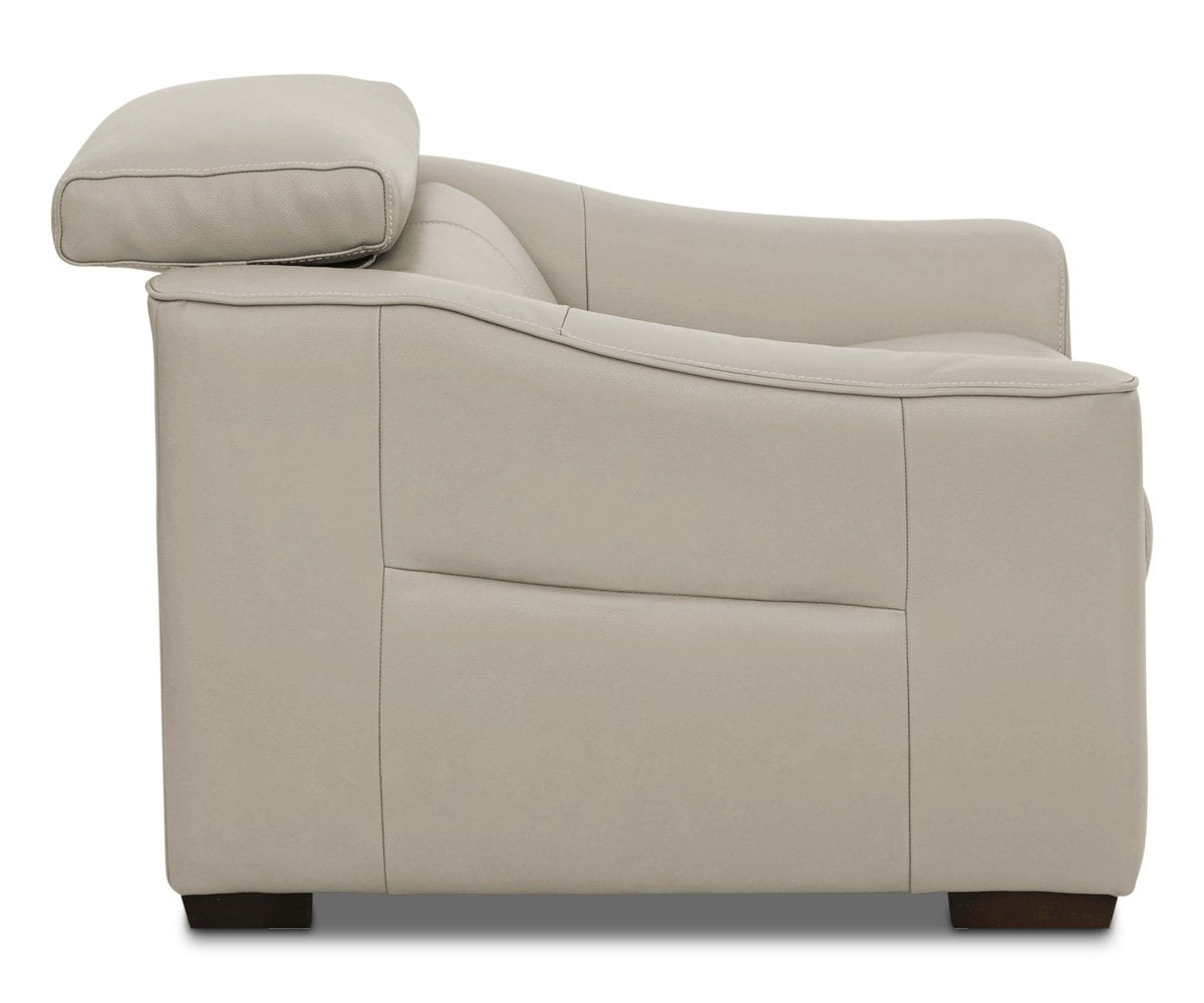 Megalo Leather Power Recliner Silver Grey Ncs-946b - Scandinavian Designs