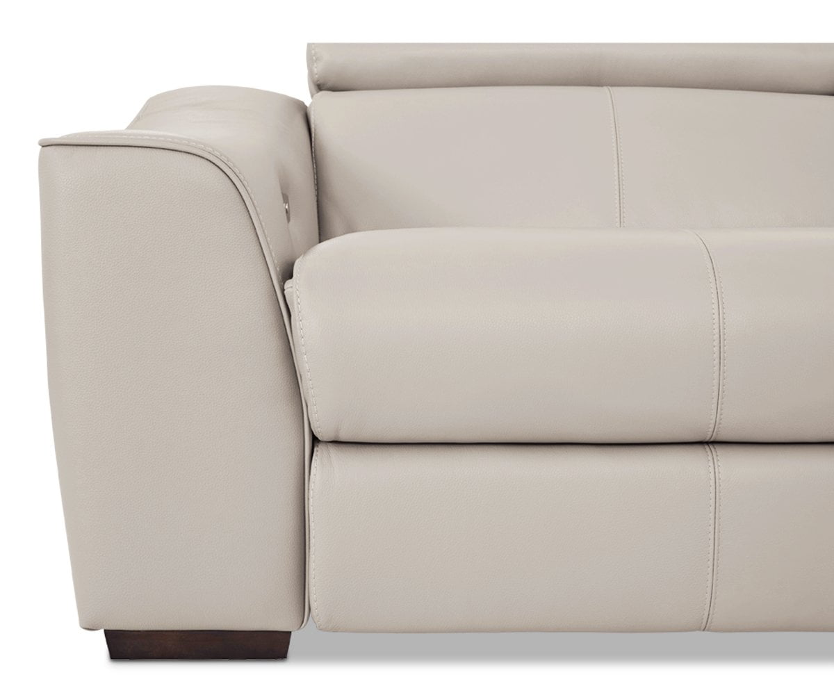 Megalo Leather Power Reclining Sofa Silver Grey Ncs-946b - Scandinavian Designs