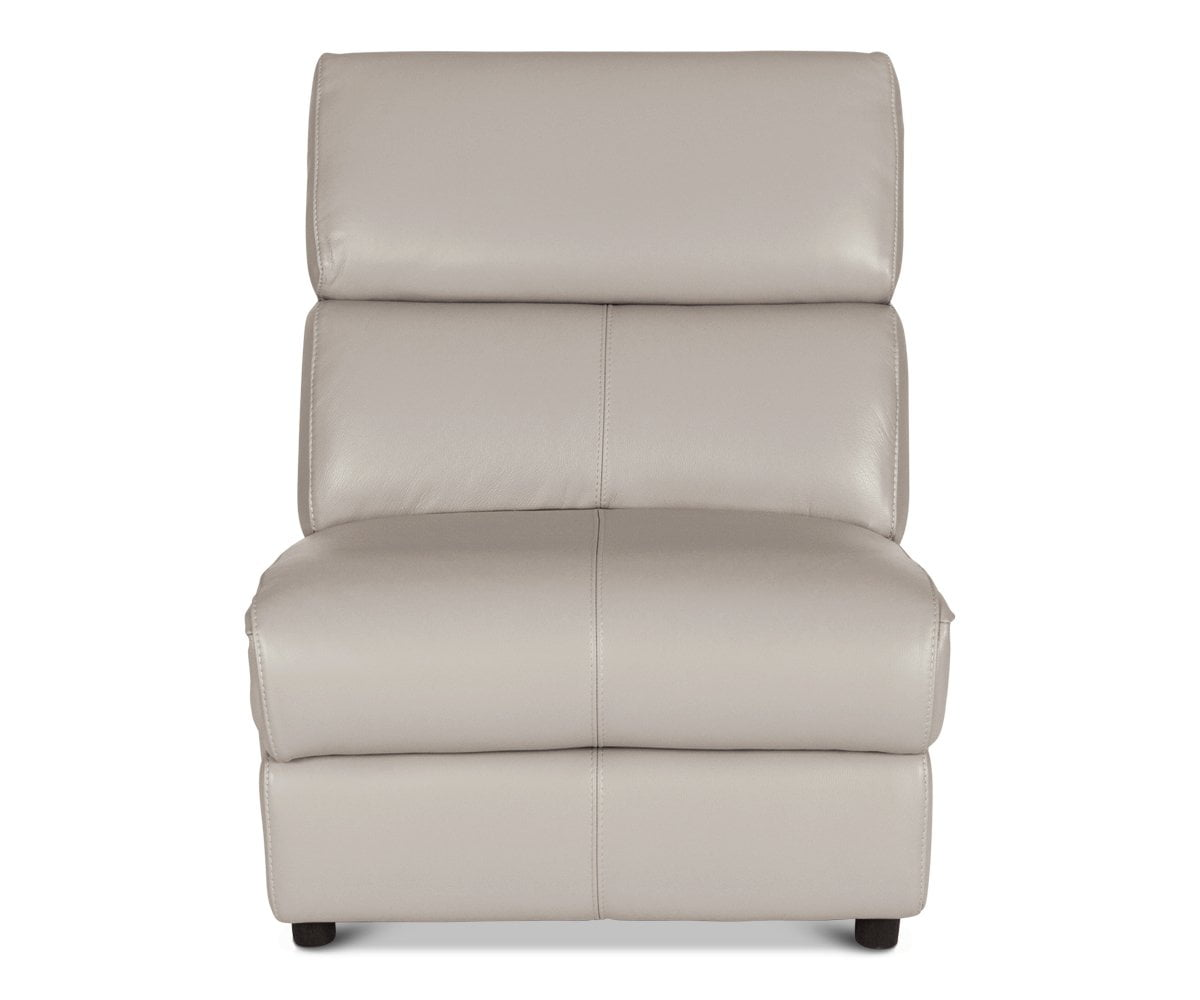 Megalo Leather Power Reclining Sectional Silver Grey Ncs-946b / STATIONARY ARMLESS CHAIR - Scandinavian Designs