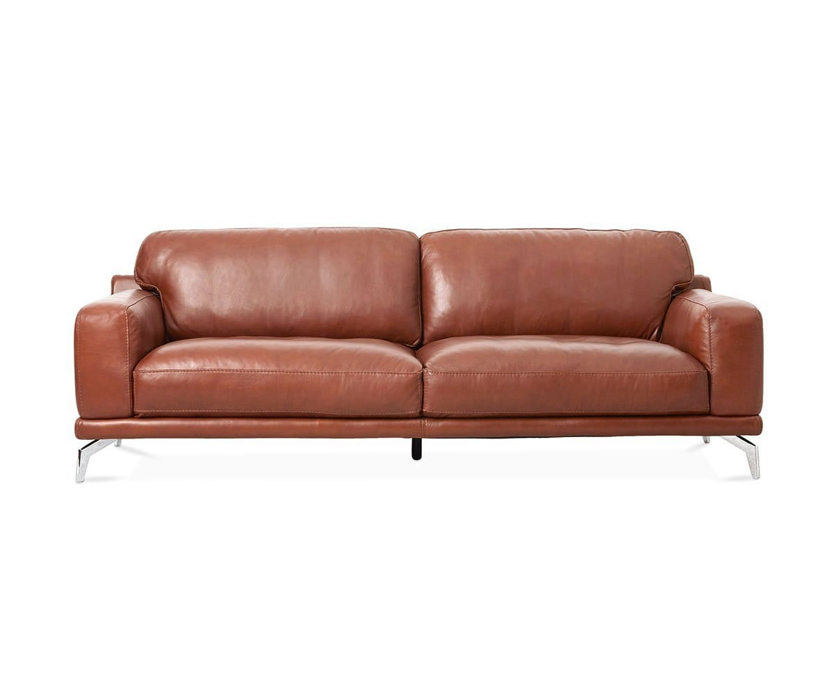 Peruna Leather Sofa COGNAC SK-297 - Scandinavian Designs