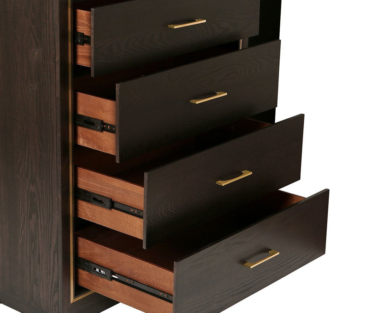 Frederick High Chest Charcoal Ash - Scandinavian Designs
