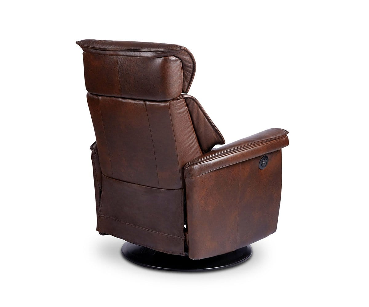 Korsvik Leather Power Recliner - Large Brown S551 - Scandinavian Designs