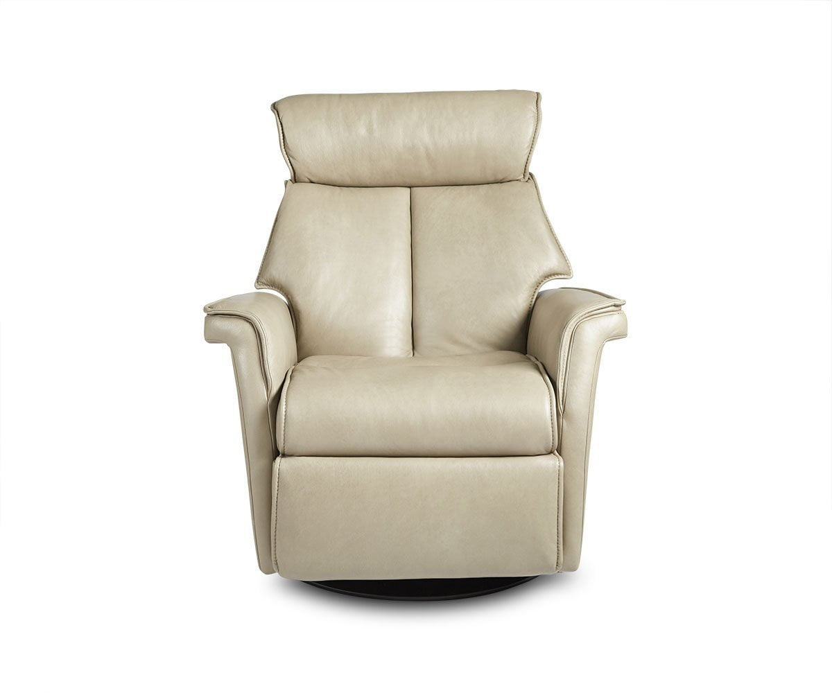 Korsvik Leather Power Recliner - Medium Grey S552 - Scandinavian Designs