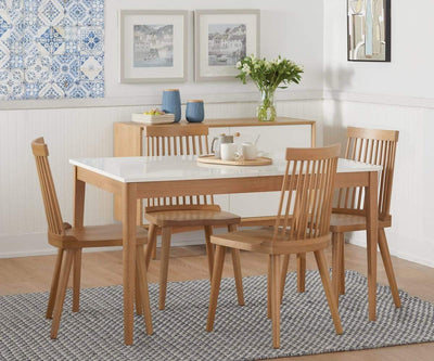 Eptri Rectangular Extension Dining Table Eptri White/Natural - Scandinavian Designs