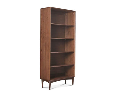 Juneau Wide Bookcase Walnut - Scandinavian Designs