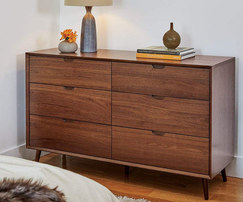 Juneau Double Dresser WALNUT - Scandinavian Designs